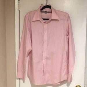 Uniqlo non iron slim fit button up pink sz M